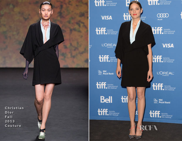 Marion Cotillard In Christian Dior Couture - 'Blood Ties' Toronto Film Festival Press Conference