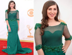 Mayim Bialik In Oliver Tolentino - 2013 Emmy Awards
