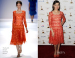 Mayim Bialik In Tadashi Shoji - Primetime Emmy Awards Performer Nominee Reception