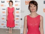 Mia Wasikowska In Azzedine Alaia - 'Tracks' Toronto Film Festival Premiere