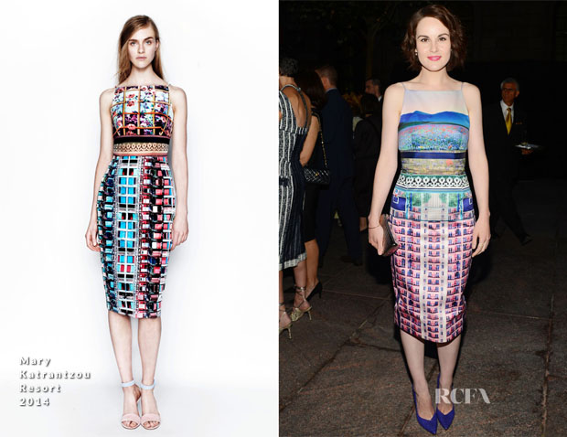 Michelle Dockery In Mary Katrantzou - Generation W Party and Vanity Fair's 'Celebration of the 2013 International Best Dressed List'