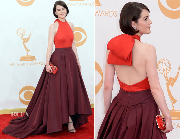 Michelle Dockery In Prada - 2013 Emmy Awards