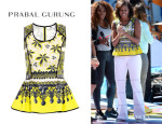Michelle Obama's Prabal Gurung Printed Peplum Top