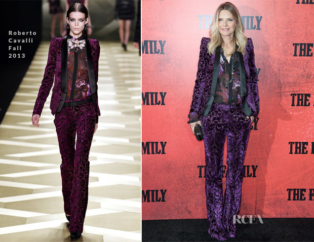 Michelle Pfeiffer In Roberto Cavalli - 'The Family' World Premiere