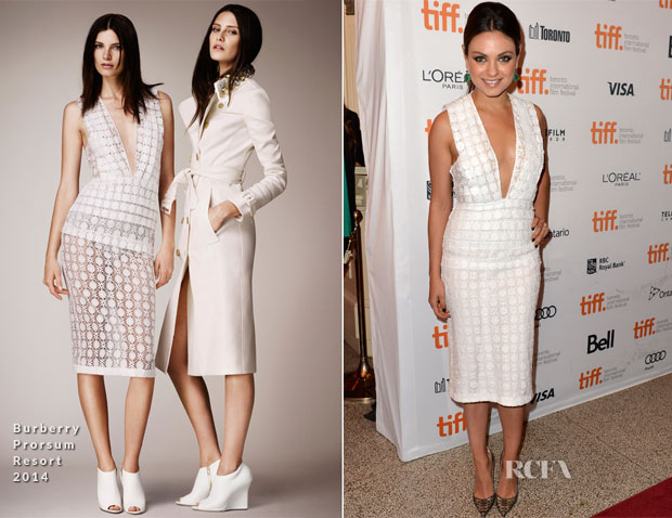 Mila Kunis In Burberry Prorsum - 'Third Person' Toronto Film Festival Premiere