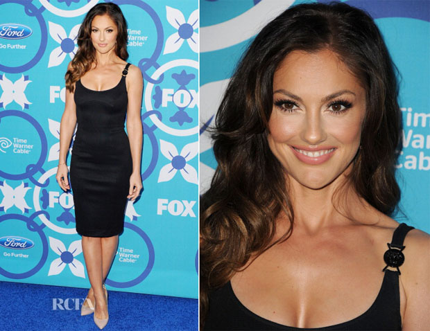 Minka Kelly In Versace - 2013 Fox Fall Eco-Casino Party