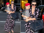 Miranda Kerr In Diane von Furstenberg - Out In New York City