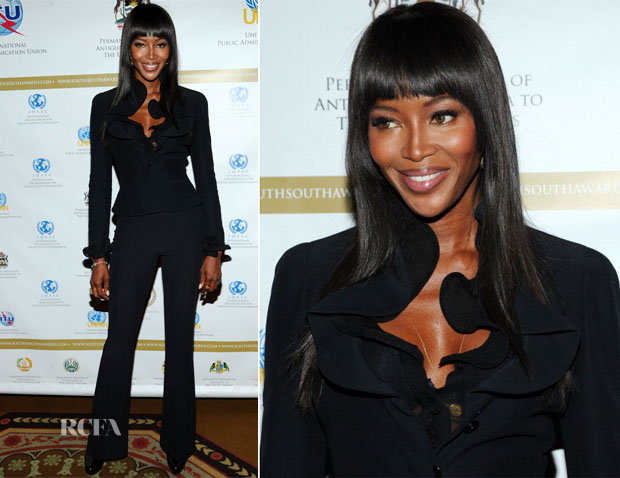 Naomi Campbell In Alexander McQueen - 2013 South-South Awards