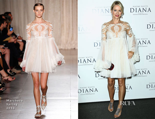 Naomi Watts In Marchesa - 'Diana' Paris Premiere