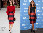 Naomie Harris In Burberry Prorsum - 'Mandela: Long Walk To Freedom' Press Conference