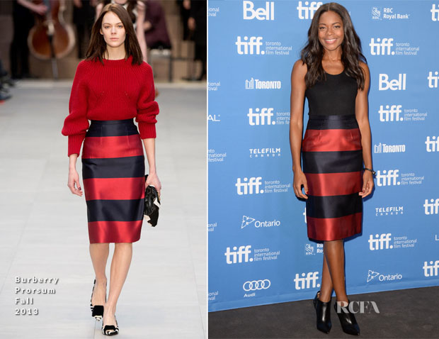 Naomie Harris In Burberry Prorsum - 'Mandela Long Walk To Freedom' Press Conference