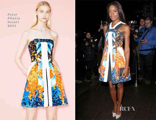 Naomie Harris In Peter Pilotto - Harper's Bazaar LFW Closing Party