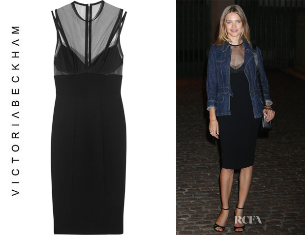 Natalia Vodianova's Victoria Beckham Tulle And Wool-Crepe Dress