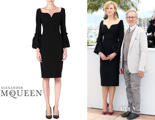Nicole Kidman Alexander McQueen Puffed-Sleeve Detail Dress
