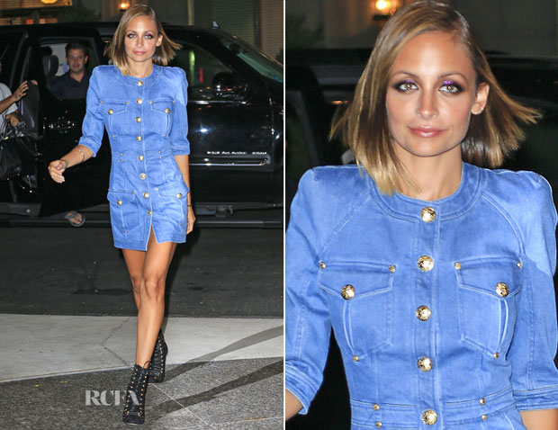 Nicole Richie In Balmain - New York City