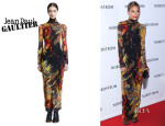 Nicole Richie's Jean Paul Gaultier Winter Garden Print Maxi Dress