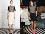 Nikki Reed In Lela Rose -  Emily + Meritt for PBteen Launch Event