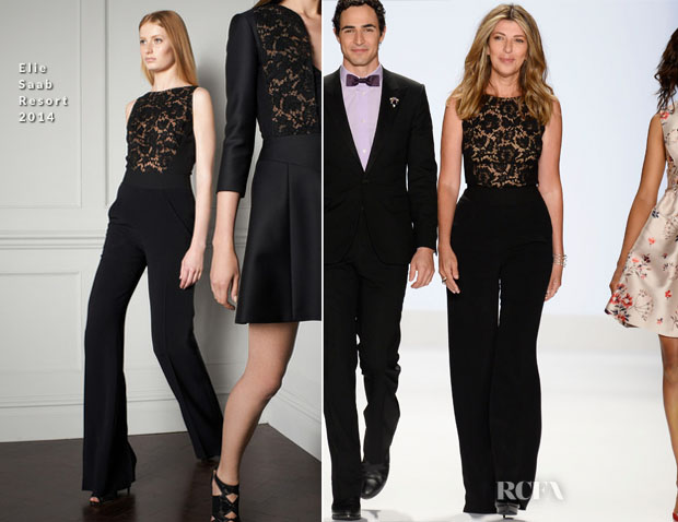 Nina Garcia In Elie Saab - Project Runway Spring 2014 Fashion Show