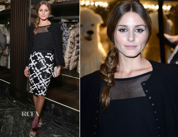 Olivia Palermo In Whistles - Moncler Flagship Opening