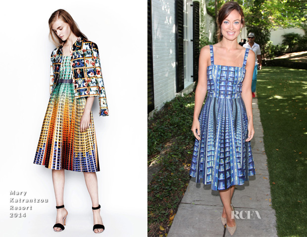 Olivia Wilde In Mary Katrantzou - Artists For Peace And Justice Brunch