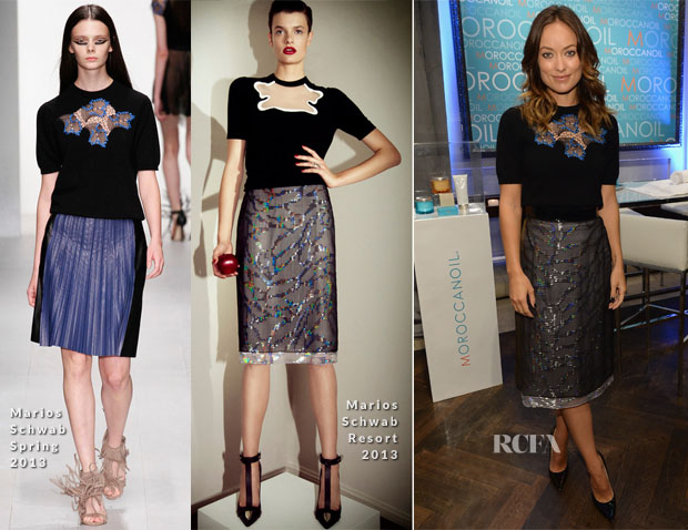 Olivia Wilde in Marios Schwab - Variety Studio at Holt Renfrew