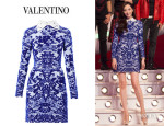 Pace Wu's Valentino Delft Intarsia Knit Dress