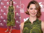 Rebecca Hall In Christopher Kane - 'Une Promesse' Venice Film Festival Photocall
