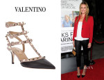 Rebecca Romijn's Valentino 'Rockstud' Leather Sandals