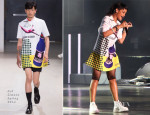 Rihanna In Raf Simons - Singapore F1 Grand Prix Performance