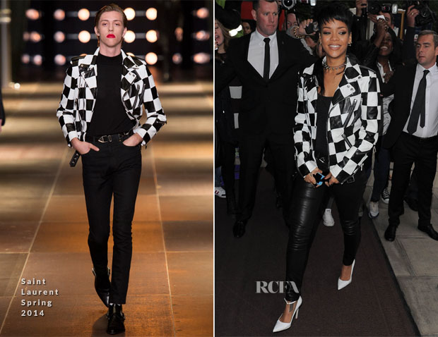 Rihanna In Saint Laurent Mens - Out In London