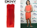 Rosario Dawson's DKNY A-Symmetric Hem Shift Dress