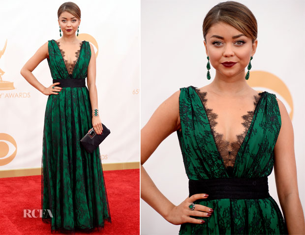 Sarah Hyland In CH Carolina Herrera - 2013 Emmy Awards