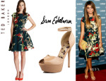 Sarah Hyland's Ted Baker 'Torella Fourties' Dress And Sam Edelman 'Marina' Pumps