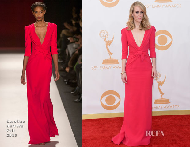 Sarah Paulson in Carolina Herrera - 2013 Emmy Awards