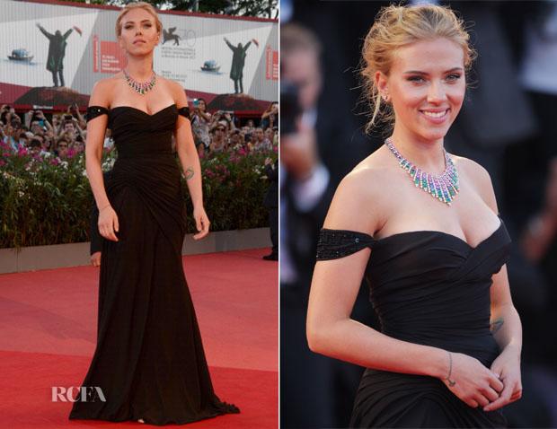 Scarlett Johansson In Atelier Versace - 'Under The Skin' Venice Film Festival Premiere