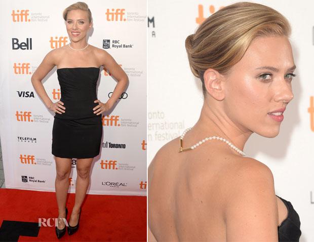 Scarlett Johansson In Saint Laurent - 'Don Jon' Toronto Film Festival Premiere