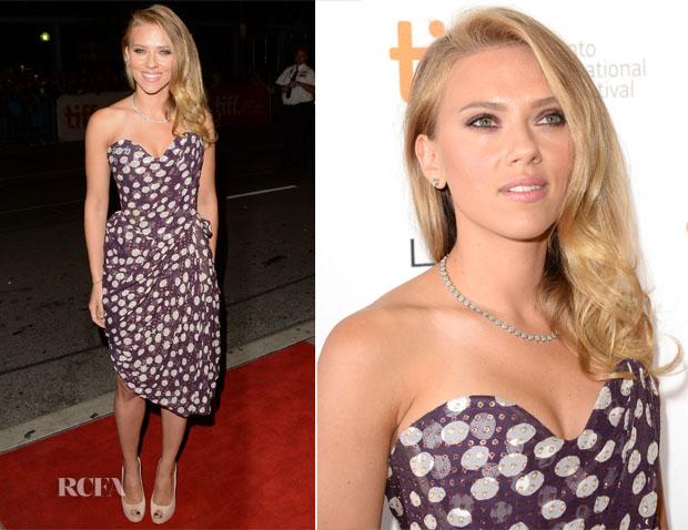 Scarlett Johansson In Vivienne Westwood - 'Under The Skin' Toronto Film Festival Premiere