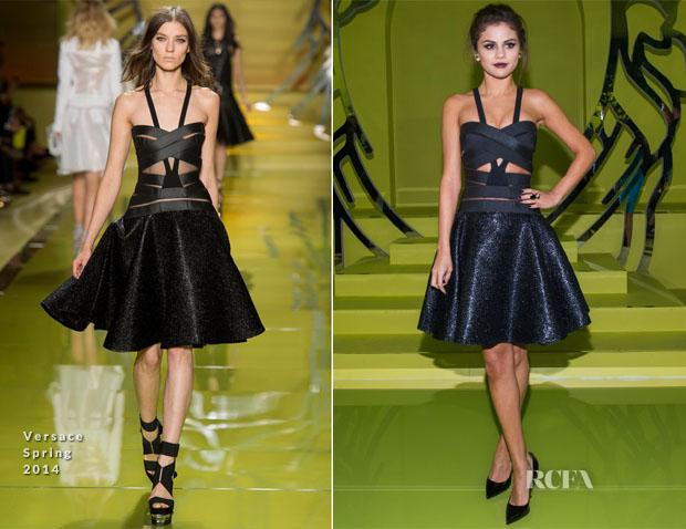 Selena Gomez In Versace - Front Row @ Versace Spring 2014