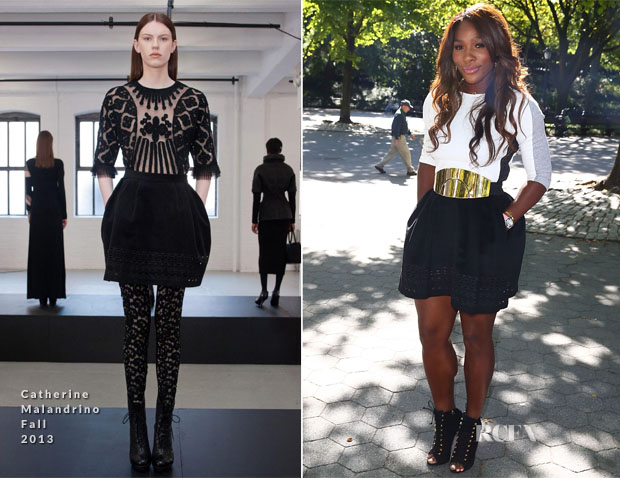 Serena Williams In Catherine Malandrino - US Open Winners Photocall