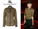Sienna Miller's Burberry London Striped Shirt
