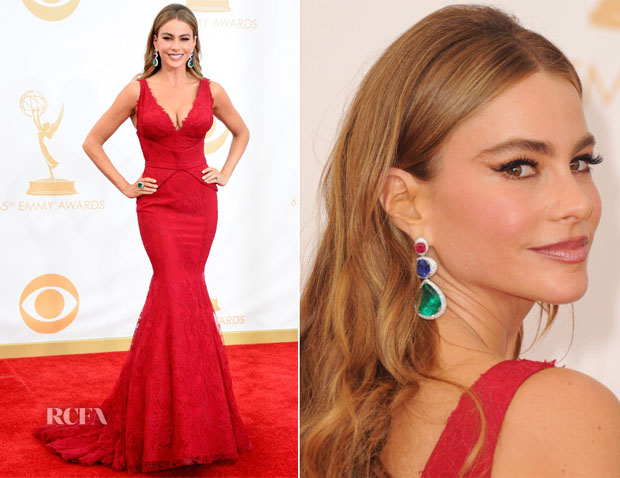 Sofia Vergara In Vera Wang - 2013 Emmy Awards
