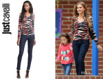 Sofia Vergara's Just Cavalli Zebra Print Top