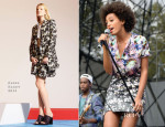 Solange Knowles In Etro & Kenzo - 2013 Budweiser Made In America Festival