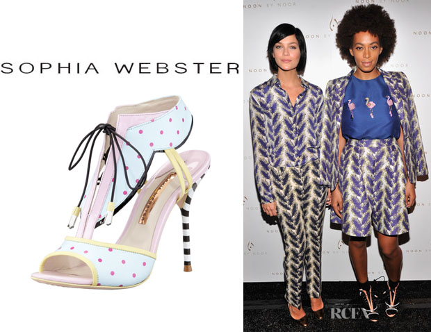 Solange Knowles' Sophia Webster 'Leilou' Polka-Dot T-Strap Sandals