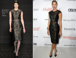 Stacy Keibler In Pamella Roland - The Hollywood Reporter's Emmy Party