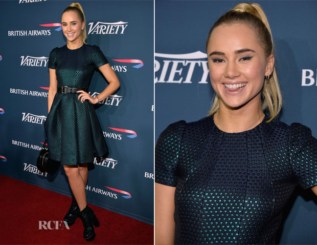 Suki Waterhouse In Mulberry - British Airways and Variety Celebration