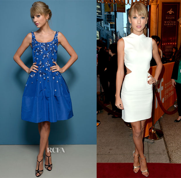 Taylor Swift In Oscar de la Renta & Calvin Klein Collection - Toronto Film Festival