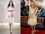 Taylor Swift In Reem Acra - 'Romeo & Juliet' LA Premiere