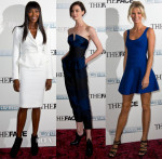 Naomi Campbell In Alexander McQueen, Erin O'Connor In Stella McCartney, Caroline Winberg In Herve Leger - 'The Face' Screening