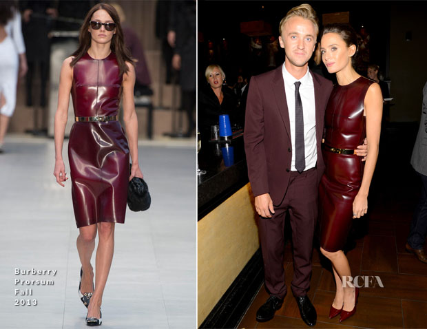 Tom Felton and Jade Olivia In Burberry Prorsum - Fox Searchlight TIFF Party